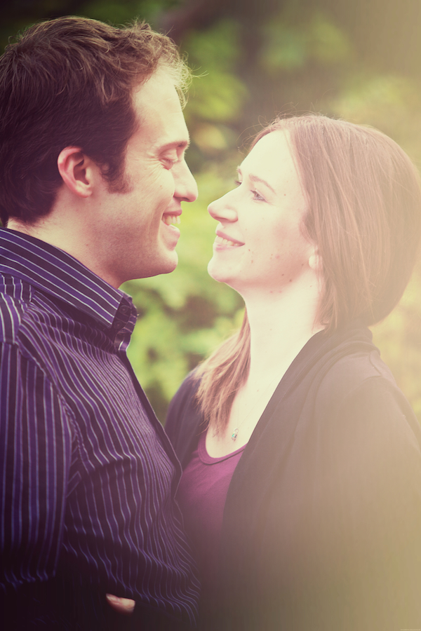 botanical gardens engagement portraits botanical gardens