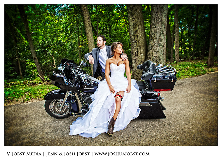 Harley Davidson Motorcycle Wedding Photography Michigan 01