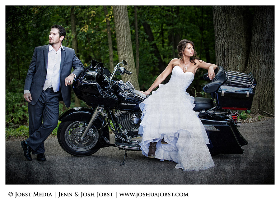 Harley Davidson Motorcycle Wedding Photography Michigan 02