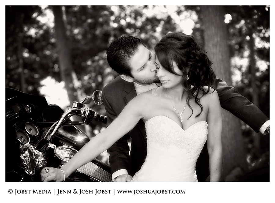 Harley Davidson Motorcycle Wedding Photography Michigan 03