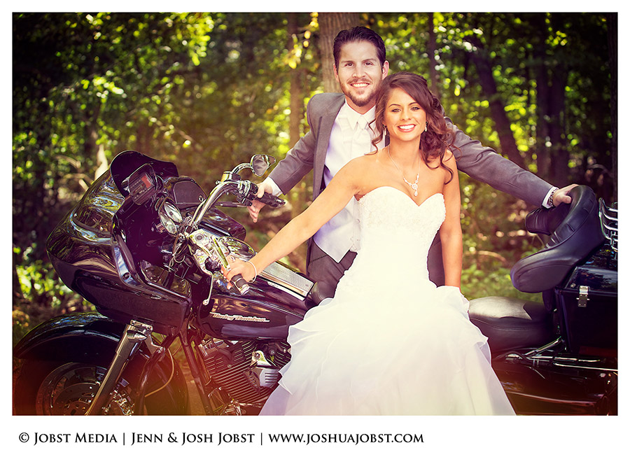 Harley Davidson Motorcycle Wedding Photography Michigan 04
