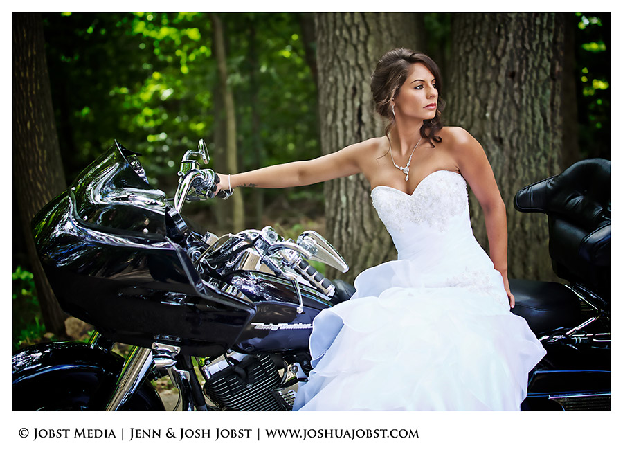 Harley Davidson Motorcycle Wedding Photography Michigan 05