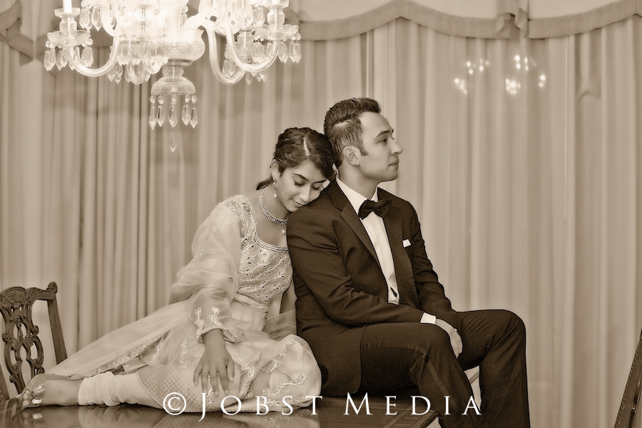 Indian Wedding Photographers Michigan beautiful sepia of girl putting her head on boy and resting peacefully
