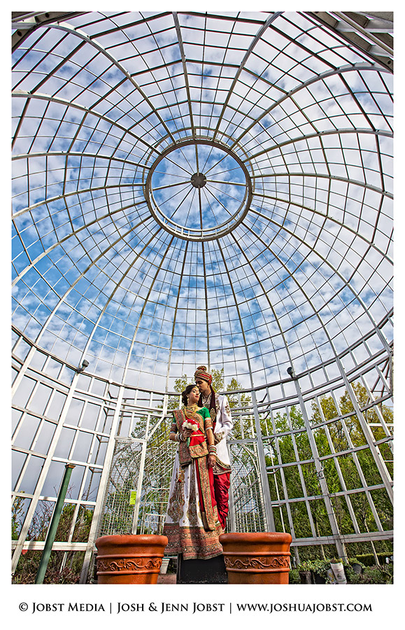 Indian Wedding Photographers Michigan great shot in the botanical gardens in taylor, mi on a nice day with them in the center