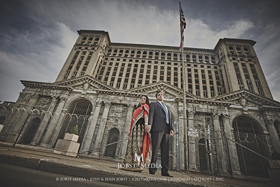 Old Train Station Detroit Engagement 003