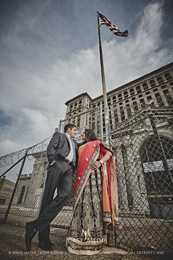 Old Train Station Detroit Engagement 006