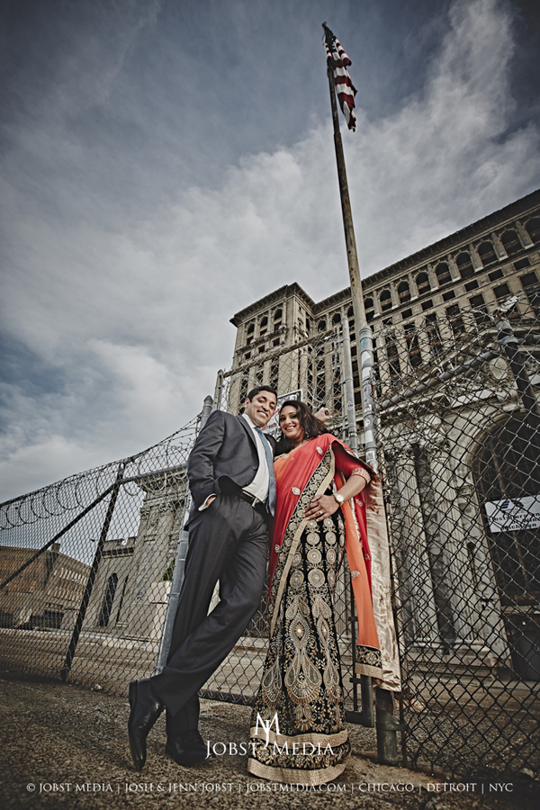 Old Train Station Detroit Engagement 007
