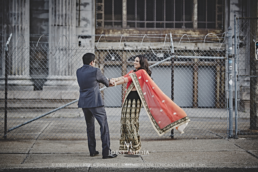 Old Train Station Detroit Engagement 012